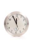 Grande orologio rotondo in studio Fotografia Stock Libera da Diritti