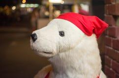 Grande orso bianco farcito Immagini Stock