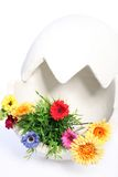 Grande ovo decorado com flores fotos de stock