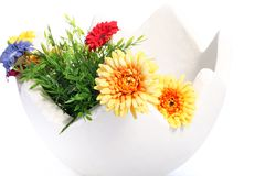 Grande ovo decorado com flores foto de stock royalty free