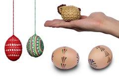 Grande pacco delle uova di Pasqua Fotografia Stock