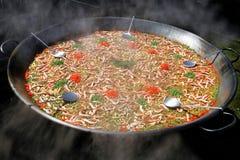 Grande paella Fotografie Stock Libere da Diritti