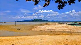 Grande paesaggio della spiaggia Fotografie Stock Libere da Diritti