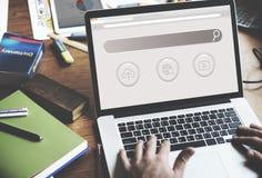 Grande page Web SEO Concept de domaine de données image stock