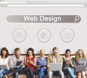 Grande page Web SEO Concept de domaine de données image libre de droits