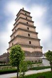 Grande pagoda Cina dell'oca selvatica fotografia stock