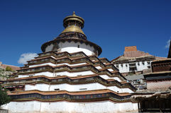 Grande pagoda del Tibet Fotografie Stock Libere da Diritti