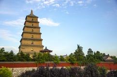 Grande pagoda dell'oca selvatica di Xi'an Fotografie Stock Libere da Diritti