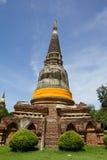 Grande pagoda della Tailandia Fotografia Stock