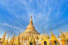Grande pagoda dorata di Shwedagon Rangoon, nel Myanmar & x28; Burma& x29; fotografie stock libere da diritti