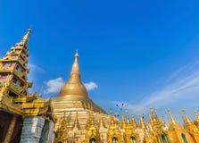 Grande pagoda dorata di Shwedagon Rangoon, nel Myanmar & x28; Burma& x29; immagine stock libera da diritti