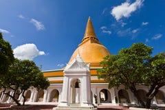 Grande pagoda più in Tailandia Fotografia Stock Libera da Diritti