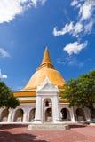 Grande pagoda più in Tailandia Fotografie Stock Libere da Diritti
