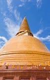 Grande pagoda più in Tailandia Fotografia Stock
