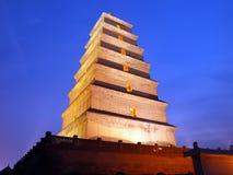 Grande Pagoda selvaggio dell'oca del Xian Fotografie Stock