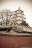 Grande pagoda selvaggio dell'oca di Xi'an Immagini Stock Libere da Diritti