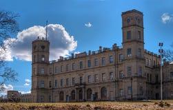 Grande palácio de Gatchina Rússia fotos de stock royalty free
