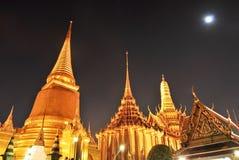 Grande palazzo alla notte Fotografia Stock Libera da Diritti