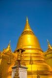 Grande palazzo Bangkok Stupa dorato e tempie religiose THAILLAND Fotografia Stock Libera da Diritti