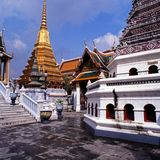 Grande palazzo, Bangkok, Tailandia. Fotografie Stock