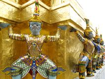 grande palazzo di Bangkok Fotografia Stock Libera da Diritti