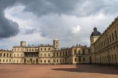 Grande palazzo di Gatchina Fotografie Stock Libere da Diritti