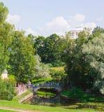 Grande palazzo nel parco StPetersburg Russia di Pavlovsk Fotografie Stock