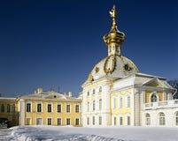 Grande palazzo in Peterhof, St Petersburg Fotografie Stock Libere da Diritti