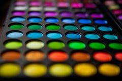 Grande palette colorée pour le maquilleur Photos stock