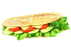 Grande panino Fotografia Stock