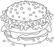 Grande panino saporito Immagine Stock Libera da Diritti