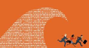 Grande panique de données illustration libre de droits
