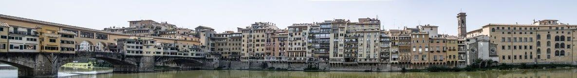 Grande panorama de Ponte Vecchio fotos de stock royalty free