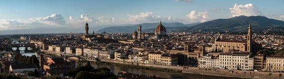 Grande panorama di Firenze Fotografia Stock