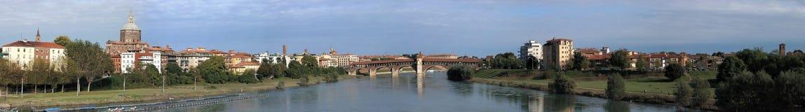 Grande panorama di Pavia Immagini Stock Libere da Diritti
