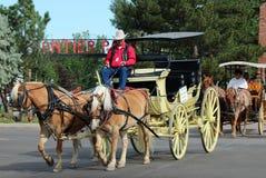 Grande parata, Cheyenne Frontier Days Fotografie Stock Libere da Diritti