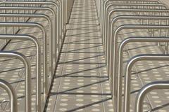 Grande parcheggio per le biciclette Fotografia Stock