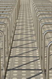 Grande parcheggio per le biciclette Immagine Stock
