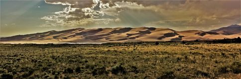 Grande parco nazionale delle dune di sabbia Immagine Stock