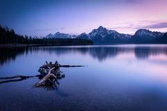 Grande parco nazionale di Teton di tramonto Fotografie Stock