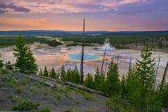 Grande parco nazionale prismatico di Yellowstone Immagine Stock