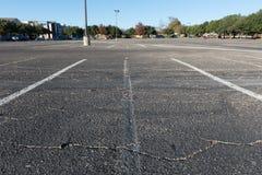 Grande parque de estacionamento vazio do carro Foto de Stock