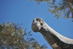 Grande parque do dinossauro, onde traços destes répteis antigos Imagens de Stock Royalty Free