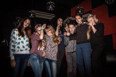 Grande partito per i giovani nella città di Kirov nel 2016 Fotografie Stock Libere da Diritti