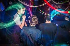 Grande partito per i giovani nella città di Kirov nel 2016 Fotografia Stock