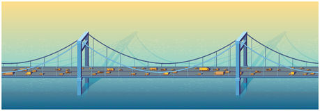 Grande passerelle illustration stock