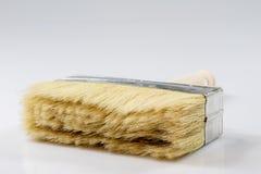 Grande pennello per le pareti di verniciatura, fondo bianco Fotografia Stock