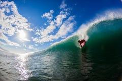 Grande pensionante cadente del corpo dell'onda Fotografia Stock