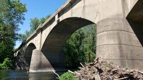 Grande pesca del ponte Immagini Stock Libere da Diritti