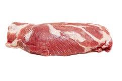 Grande pezzo di carne cruda fresca isolata Fotografia Stock